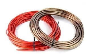8 Gauge 50 Negro Y 50 Red Car Audio Cable De Cable De Ti