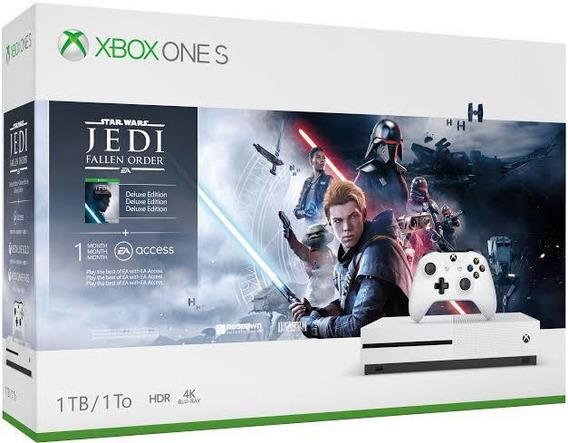 Xbox One S Slim 1 Tb - Xone Branco - Envio E Retire Sp