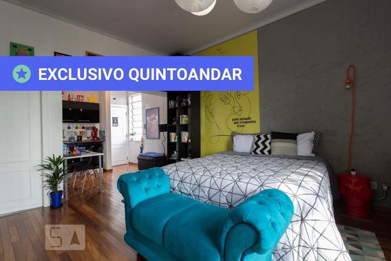 Studio No 16º Andar Mobiliado Com 1 Dormitório - Id: 892985978 - 285978