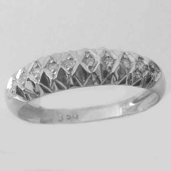 2276 Anel Diamante Tipo Ralador Ouro Branco 18k