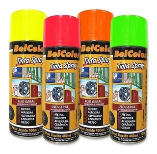 Tinta Spray Fluorescente Todas As Cores 400ml Beltools
