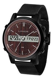 Relógio Masculino Lince Anadigi 50m Ref. Man4489s-n1px