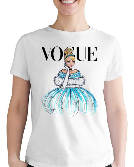Playera Dibujo La Cenicienta Vogue Niña Disney Princesa Dama