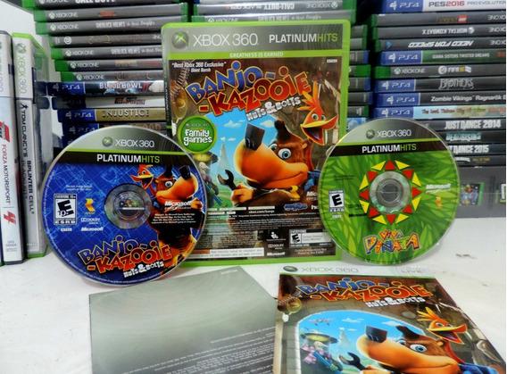 Jogo Banjo Kazooie E Viva Pinata Xbox 360 Original Crianças