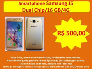 Smartphone Samsung J5, Dual Chip, 16 Gb, 4g