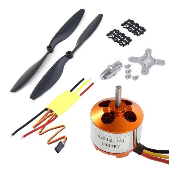 Kit De Motor Brushless A2212 1000kv Drone Helices