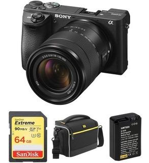 A6500 Cámara Digital Sony Alpha Sin Espejo Con Lente 18-135m