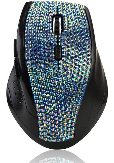Sa Crystal Diamond Rhinestone Bling 2.4g Wireless Mouse Mou