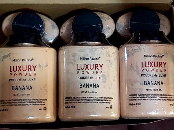 12pzs Polvo Banana Traslucido Luxury Mayoreo