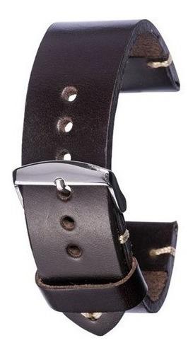 Pulseira Relógio Couro Legítimo Soleta 24mm Carta Registrada