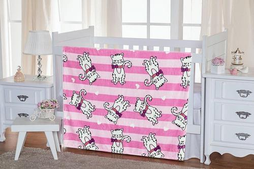 Imagem 1 de 1 de Cobertor Bebe Estampado Macio Anti Alérgico Etruria