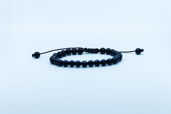 Pulseira Bracelete Masculino Feminino Ajustável Ráfia Black