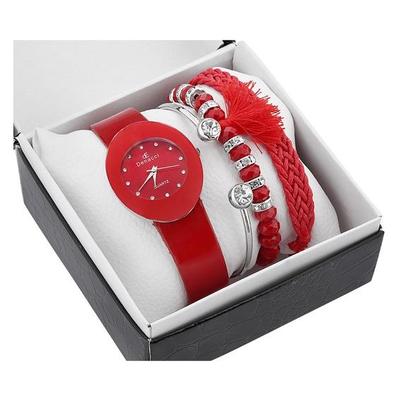 Relógio Pulso & Pulseira Para Feminino 1858