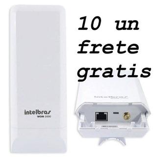 Kit 10 Roteador Wom 5000 Antena Cpe Siso Com Fonte