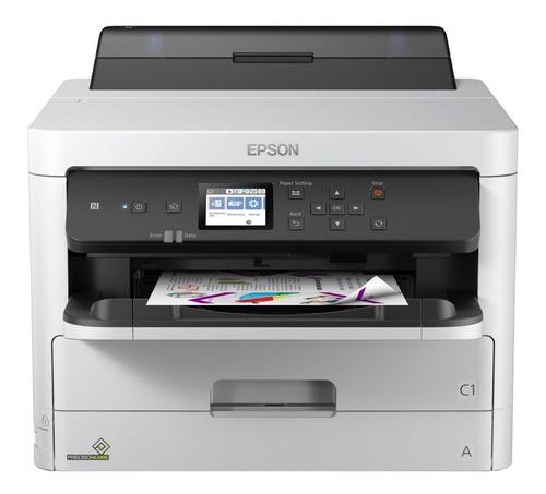 Imagen 1 de 3 de Impresora a color simple función Epson WorkForce Pro WF-C5290 con wifi blanca y gris 100V/240V
