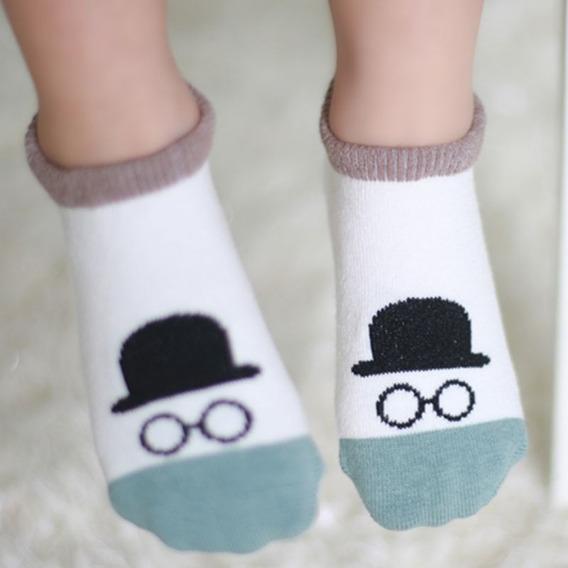 Meias Socket Estampadas Antiderrapante Para Bebês