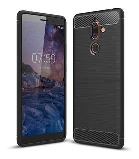 Capa Case Nokia 7 Plus Tpu + Pelicula Full Cover 9h 2.5d