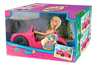 Figura Poppi + Auto - Kiara Y Su Auto De Playa (3135)