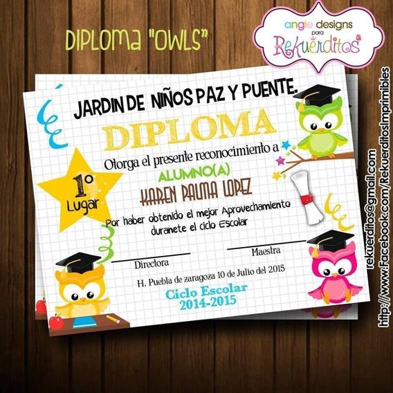Kit Imprimible Diplomas Egresados Jardin Infantil Kdkt0187