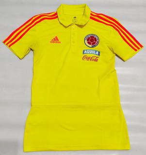 Camisa Polo adidas Seleção Colombia 2018 Amarela