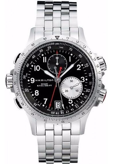 Relógio Hamilton Khaki Ref: H7761213 - Original - Masculino