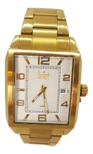 Relógio Masculino Quadrado Dourado  - Dumont