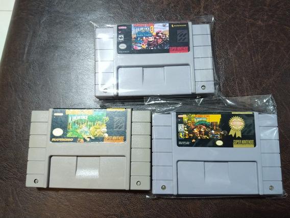 Trilogia Donkey Kong Snes Super Nintendo
