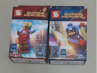 Super Heroes - Figuras De Ironman Y Capitan America