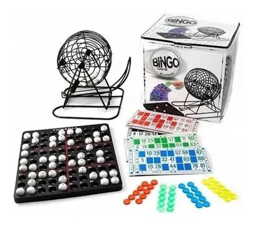 Imagen 1 de 10 de Bingo Loteria Juego Mesa Familiar Bolillero De Metal Faydi