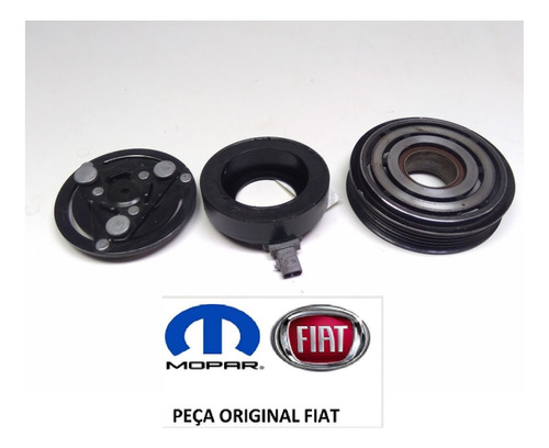Polia Compressor Fiat Argo 1.0 03 Cil 2020 Original