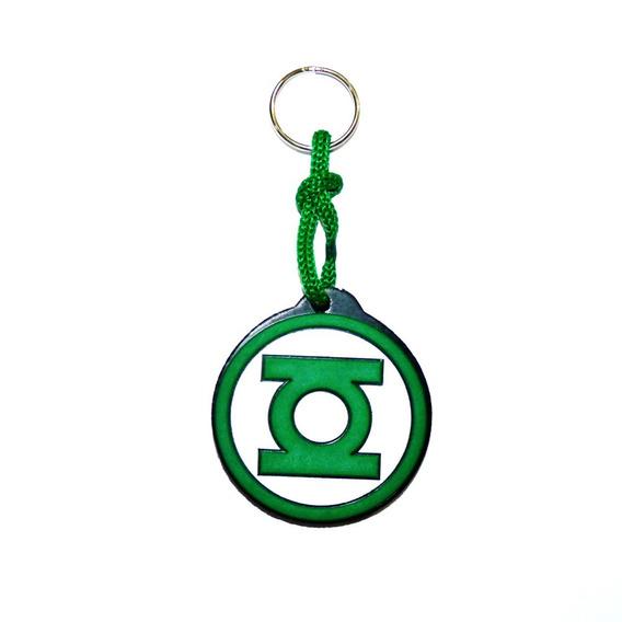 Chaveiro Lanterna Verde Emborrachado