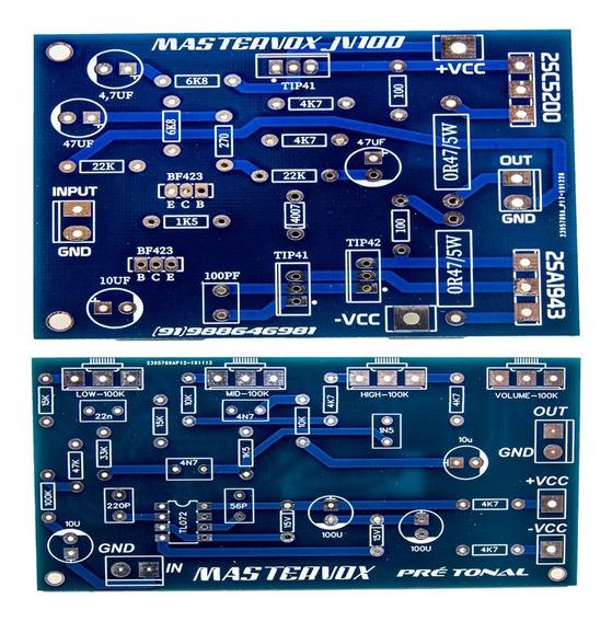 2 Placas P/ Montar Amplificador 100w E Pré Amplificador