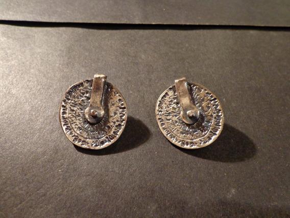 Aros Forma De Una Especie De Moneda Antigua-ver Descripcion