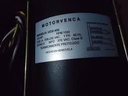 Motor Motorvenca Modelo Ucd 432 1/4 Hp 220v 1550rpm