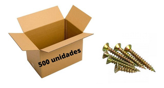 500 Parafuso Madeira Chipboard 3,5x35 Cabeça Chata Atacado