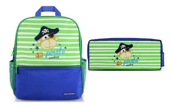 Mochila Escolar Infantil + Estojo Necessaire Jacki Design