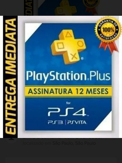 Cartão Playstation 12 Meses Ps4 Ps3 Jogue On