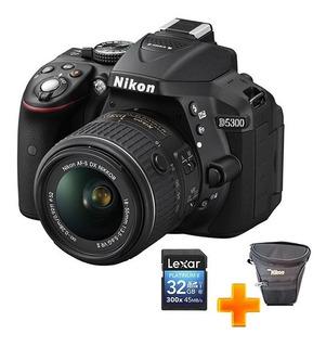 Cámara Nikon D5300 Nueva-con Memoria 32gb,estuche De Camara