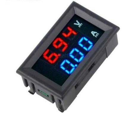 Voltímetro E Amperímetro Digital Dc 100v X 10a Com Garantia