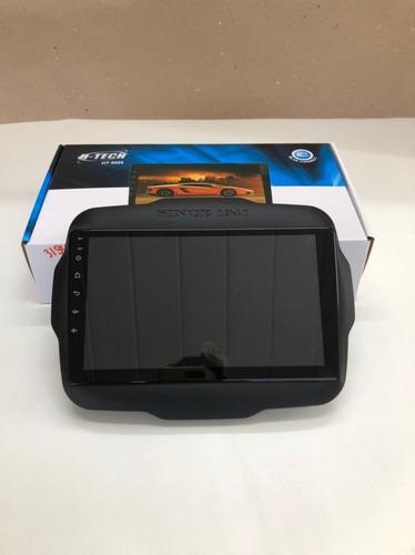 Multimídia Mp5 H-tech 9'' Jeep Renegade Pcd + Câmera De Ré