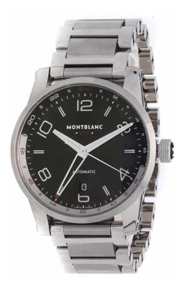Relógio Montblanc Timewalker Voyager Novo Original Clássico