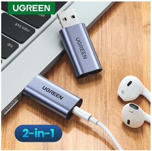 Imagen 1 de 10 de Adaptador Audio + Micro Usb 2.0 A Plug 3.5mm Hembra Ugreen