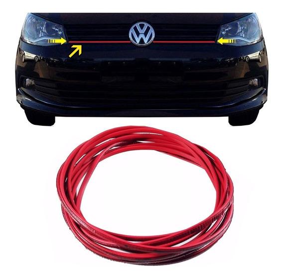 Friso Vermelho Grade Volkswagen Gol Voyage Saveiro G6