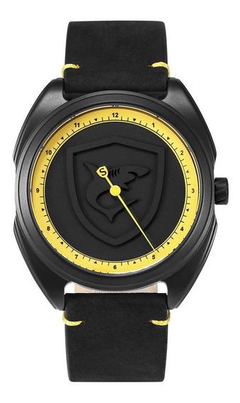 Sombra Inner Black Crazy Horse Belt Relógio De Quartzo Relóg