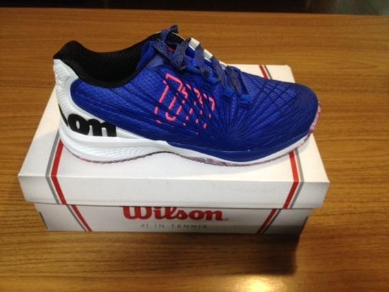 Tenis Wilson Kaos 2.0 Azul E Branco N 39