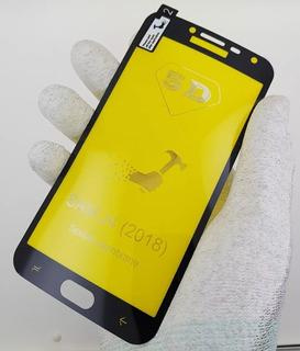 Película 5d Gel Samsung J4 2018 Cobre Tela Toda Branca/preta