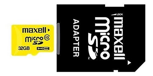 Tarjeta Micro Sd Memoria 32gb Cl 10 90mb/s Maxell