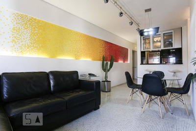 Apartamento No 12º Andar Mobiliado Com 1 Dormitório E 2 Garagens - Id: 892930046 - 230046