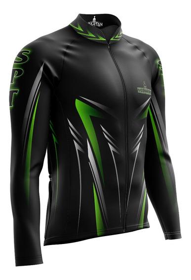 Camiseta Ciclista Spartan M/ L (f) - Ref 06 - Proteção Uv50+