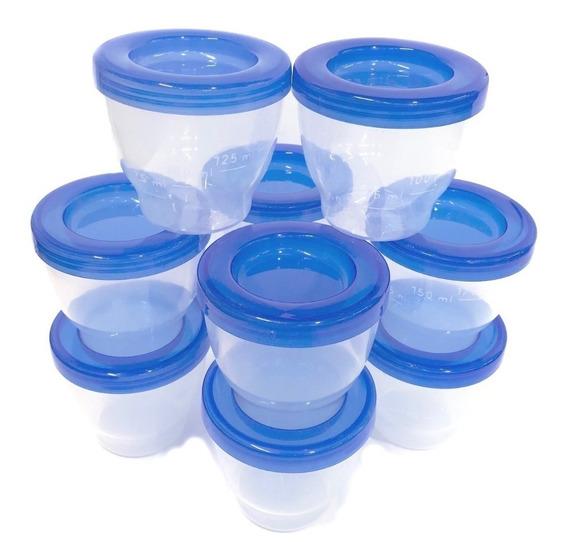 Set De Vasos Bebe Leche Materna Almacenamiento De Sacaleche - Alimentacion Bebes & Baby - Tarritos Plasticos Libre Bpa -